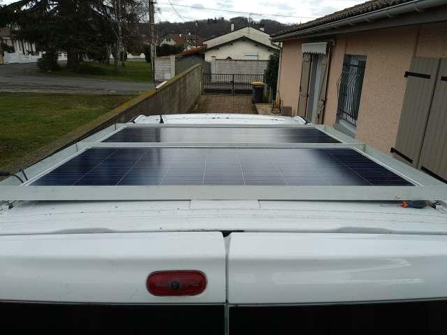 Pose des panneaux solaire